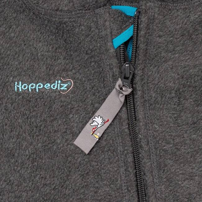 Hoppediz Fleece-Overall Antraciet