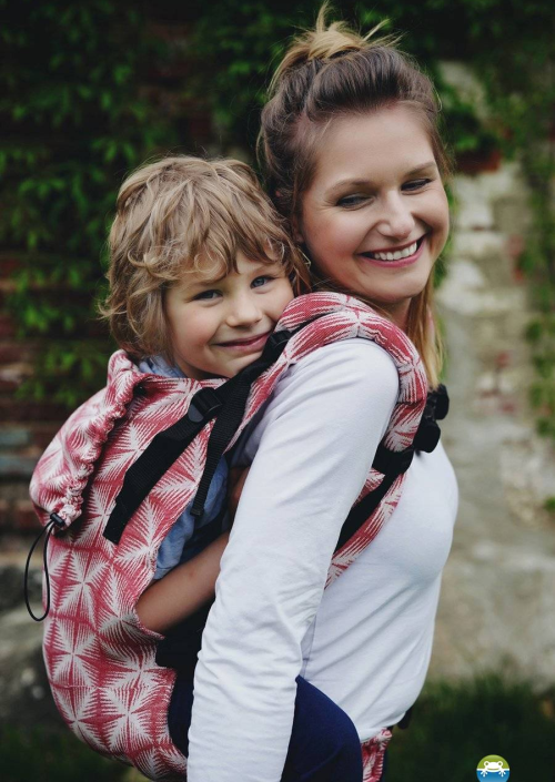 Little Frog XL Toddler Carrier Red Glimmer