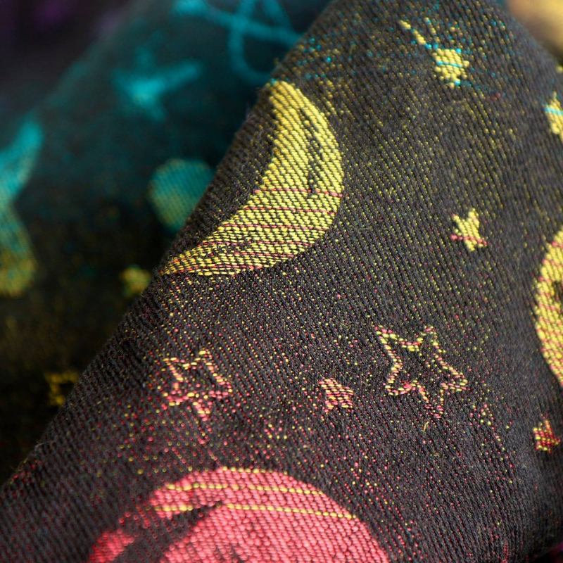 Ringsling Yaro Cosmos Nebula Black Rainbow Linen Hemp