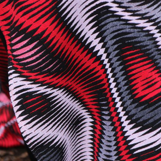 Ringsling Yaro Hypnotic Spongy White Red Black